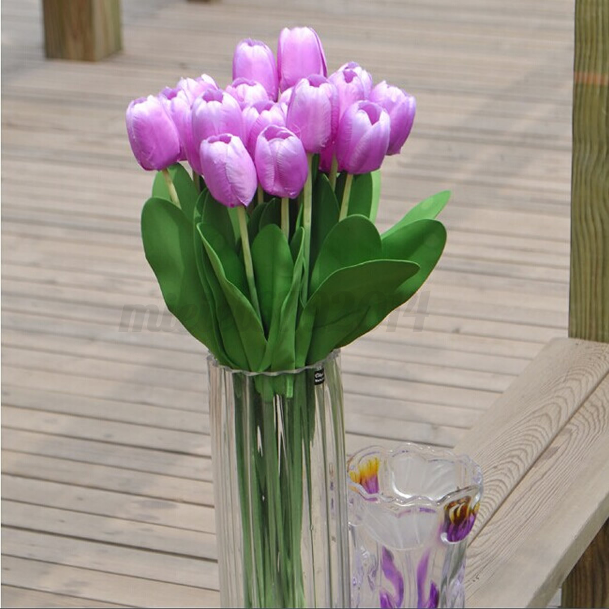 10Pcs Artificial Silk Tulip Flower Bouquet Wedding Party Home Decor Real Touch  eBay