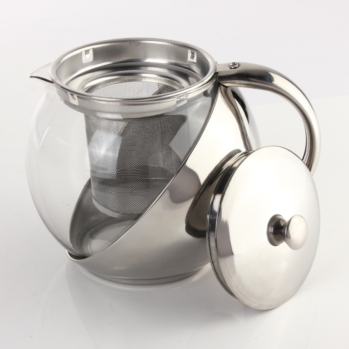 Ml stainless steel teapot coffee pot with loose tea