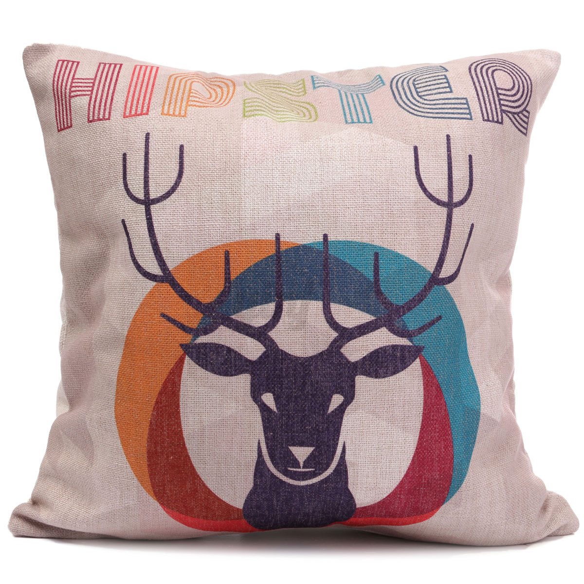 Linen Cotton Pillow Case Waist Back Throw Cushion Cover Home Sofa Car Decor eBay