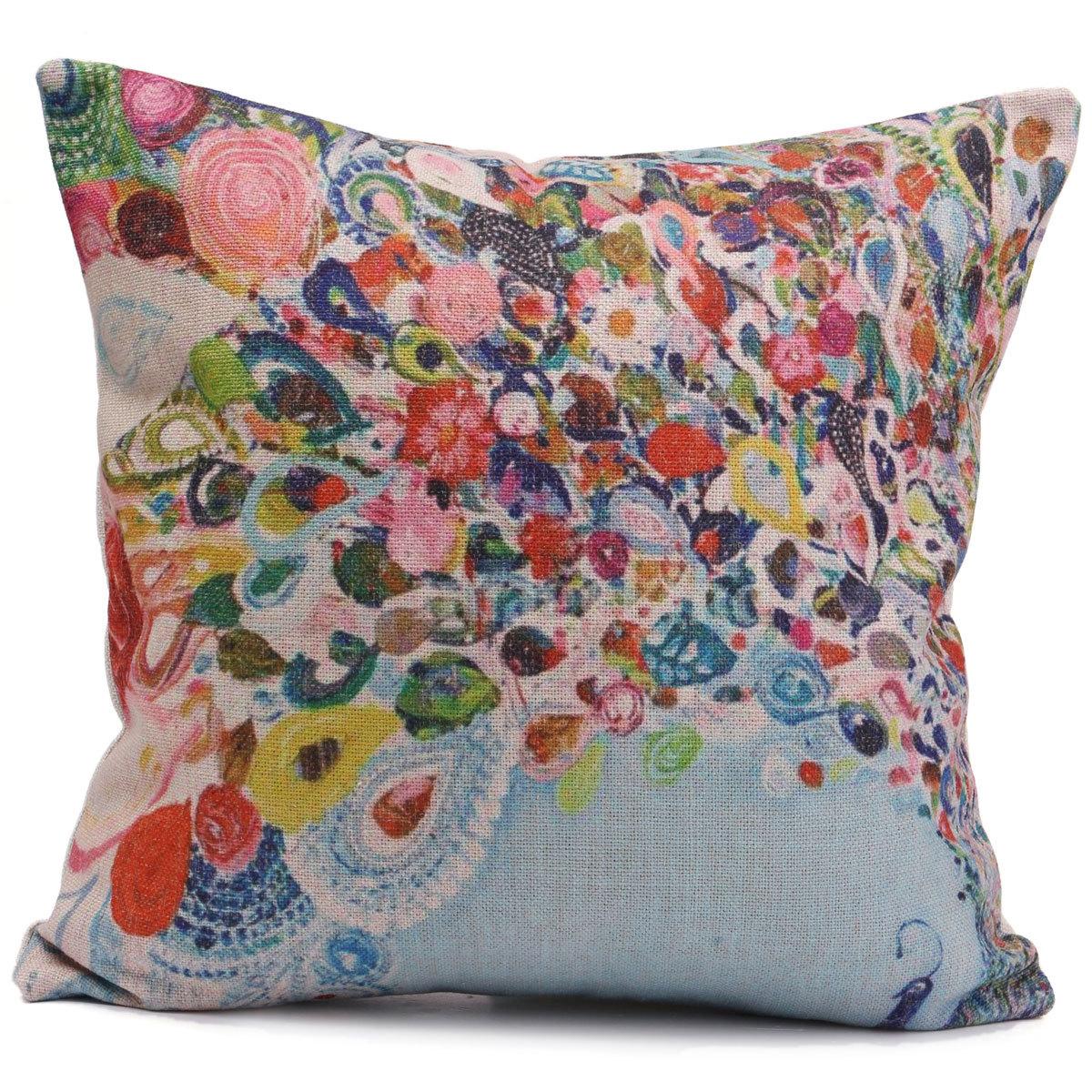 Linen Cotton Pillow Case Waist Back Throw Cushion Cover Home Sofa Car Decor eBay