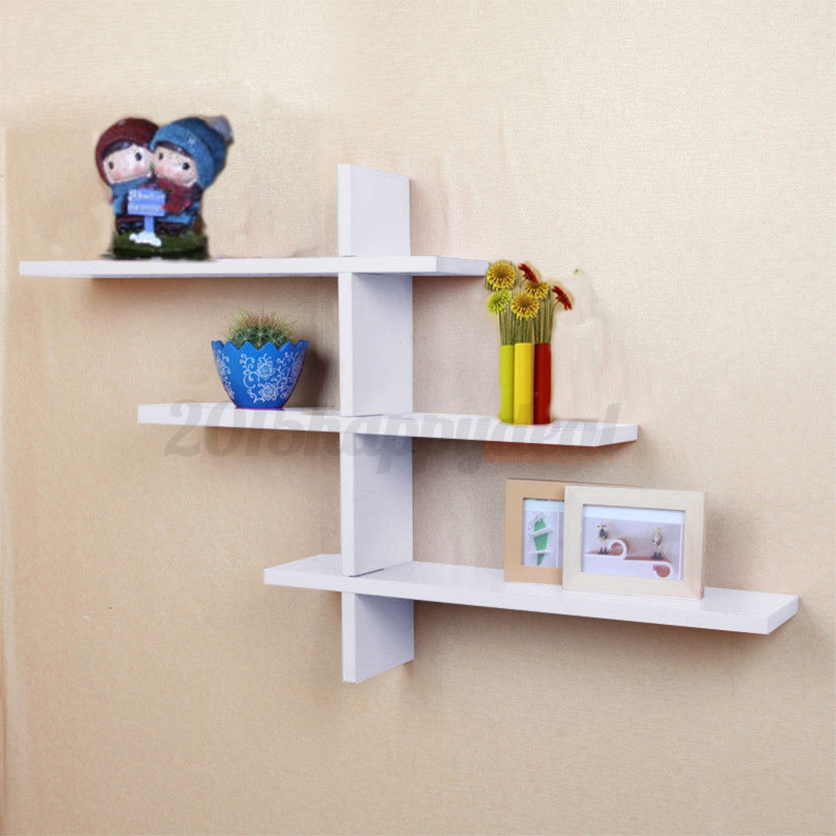 heavy duty t shape floating wall mount shelves book dvd. Black Bedroom Furniture Sets. Home Design Ideas