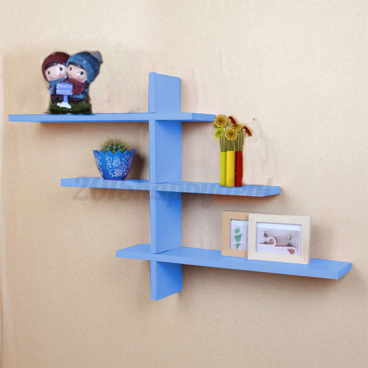 Heavy Duty Wall Shelving : Heavy duty t shape floating wall mount shelves book dvd