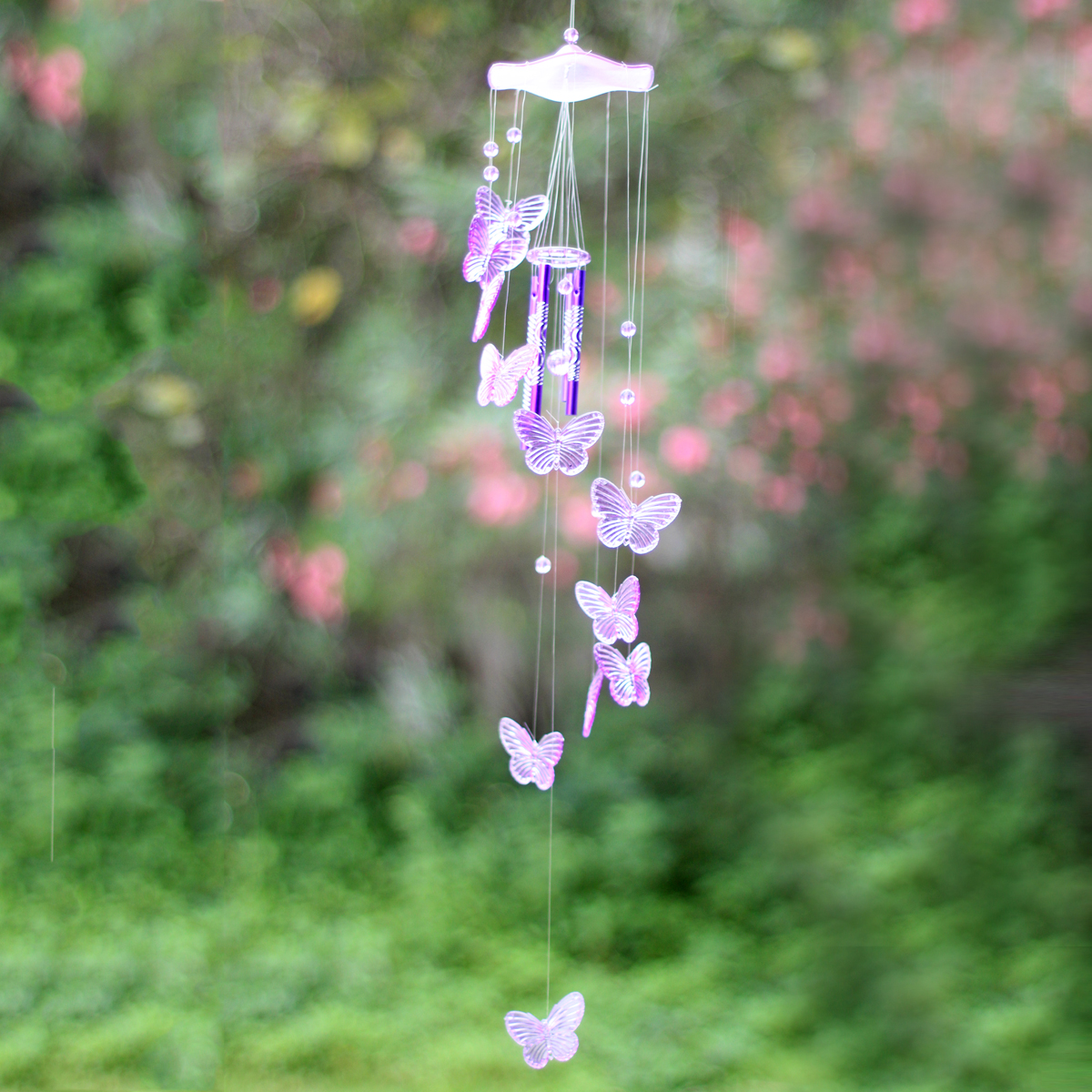 Creative Butterfly Mobile Wind Chime Bell Garden Ornament