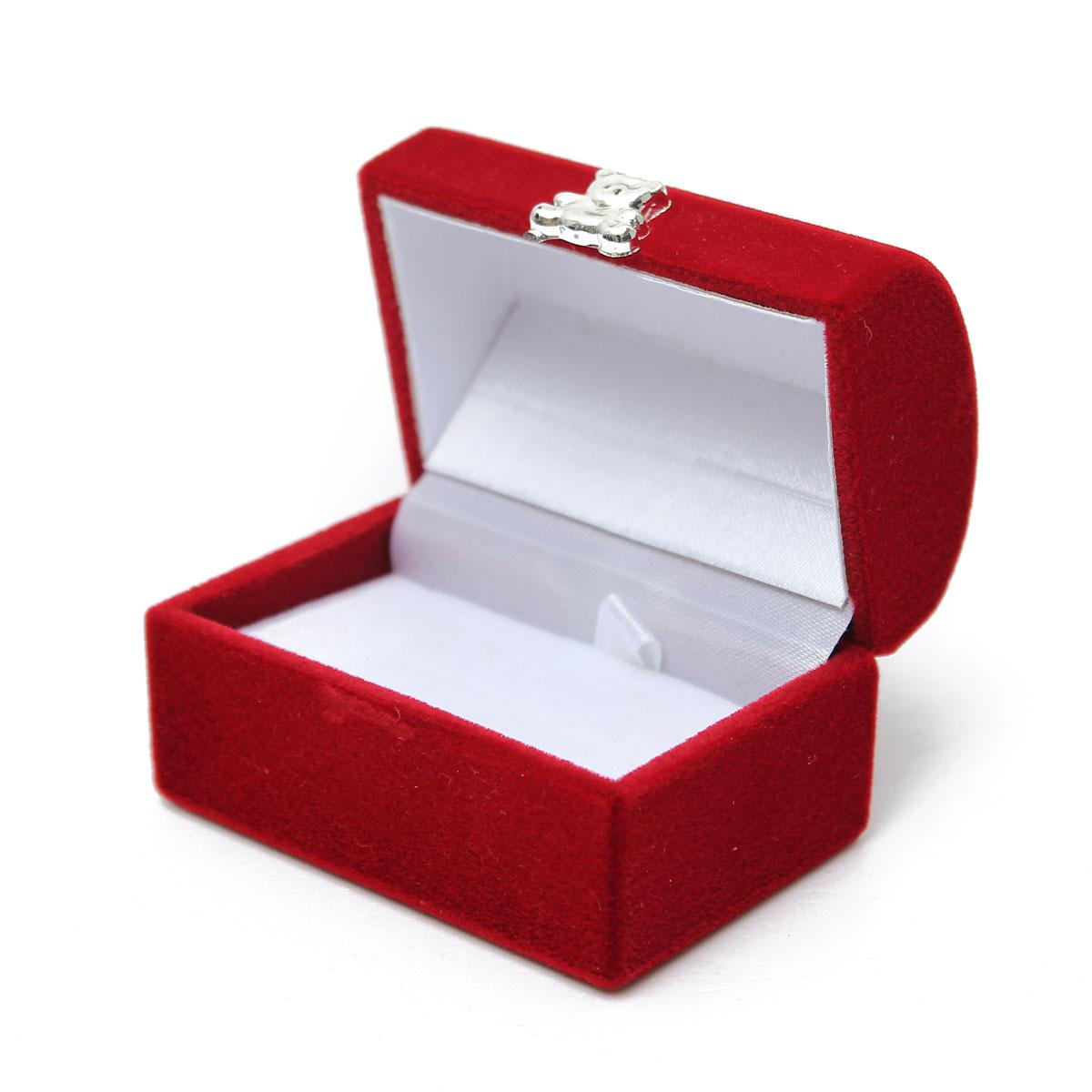 Velvet Ring Display Girls Jewelry Organizer Case Tray Earring
