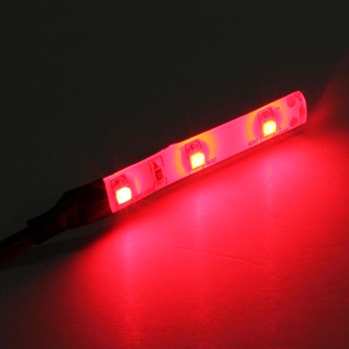 4 x 30cm Waterproof 15 3528 SMD Flexible LED Light Lamp Strip Red DC 12V /& G4T6