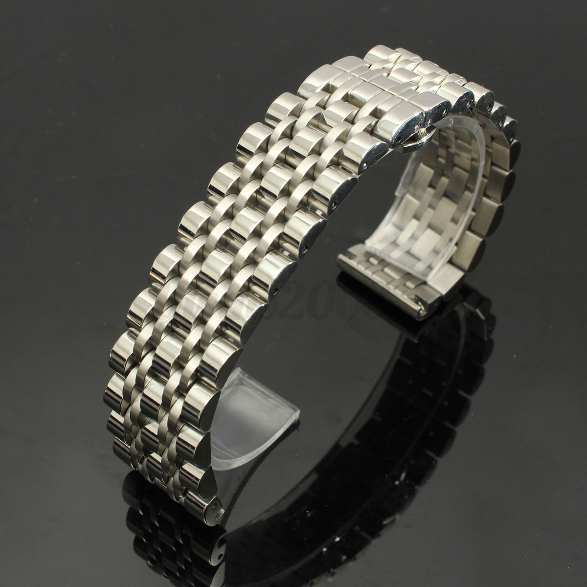 18-20-22-24mm-Bracelet-de-Montre-Boucle-Deployant-acier-inoxydable-Watch-Bande miniature 16