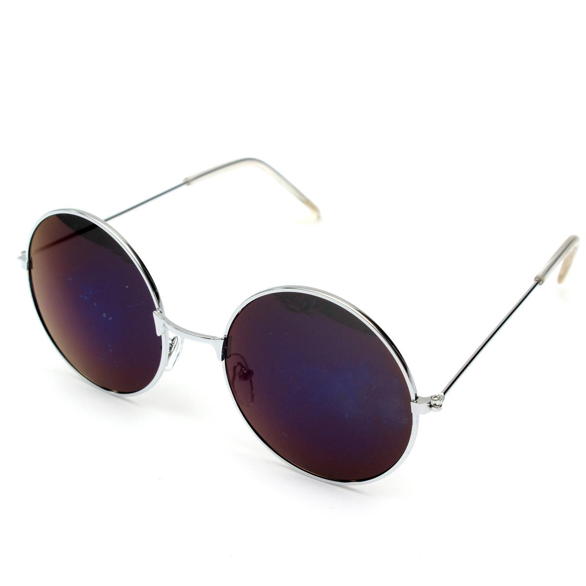 Fresh Retro Vintage Men Women Big Round Metal Frame Sunglasses Glasses  XY17