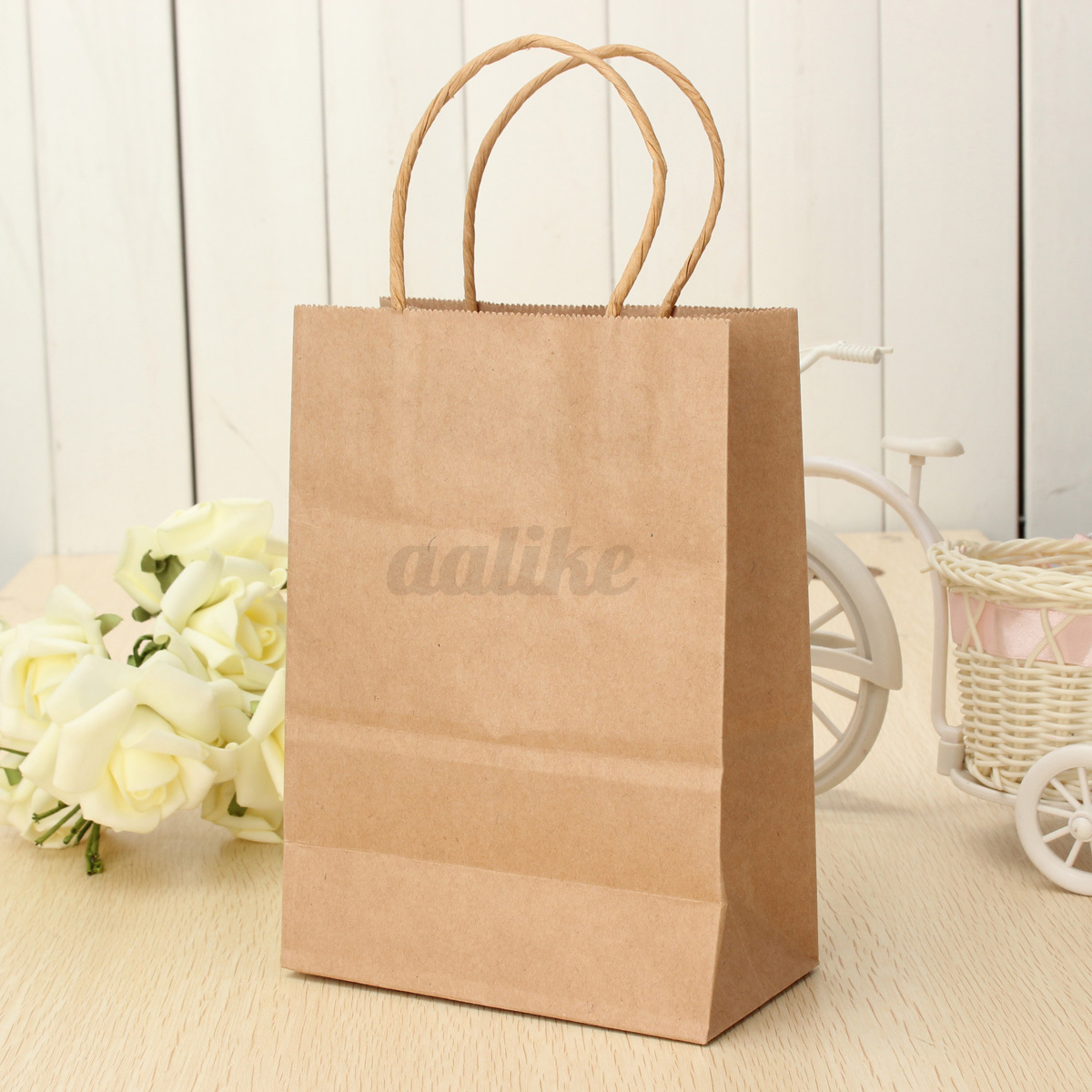 9e005fad8108 1~50PCS Bulk Kraft Paper Gift Carry Shopping Bags Retail Food Rope Bag  Party New