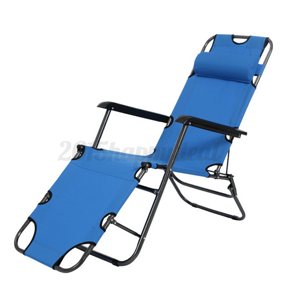FOLDING RECLINING GARDEN OUTDOOR SUN LOUNGER CAMPING BEACH LOUNGE CHAIR