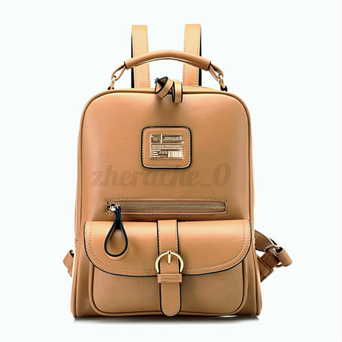 US Women Leather Backpack School Lady Travel Rucksack Shoulder ...