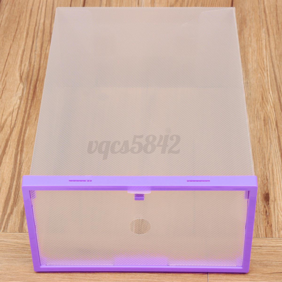 Stackable Clear Shoe Storage Case Box Breathable Holder