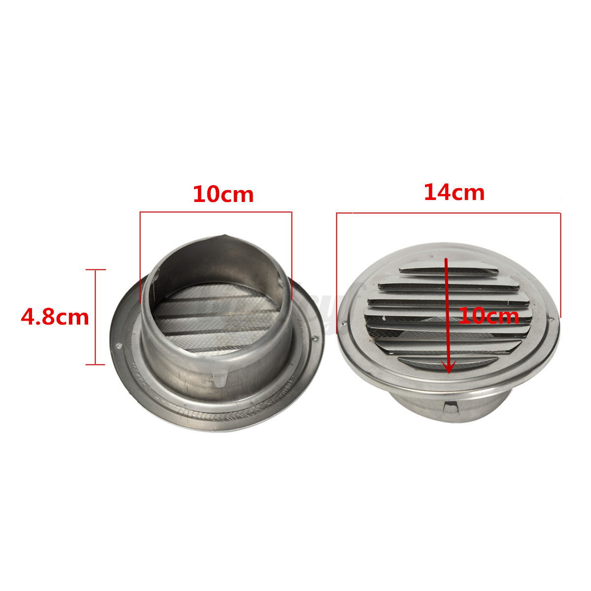 stainless steel silver circular air vent grille cover wall ventilation grilles ebay. Black Bedroom Furniture Sets. Home Design Ideas