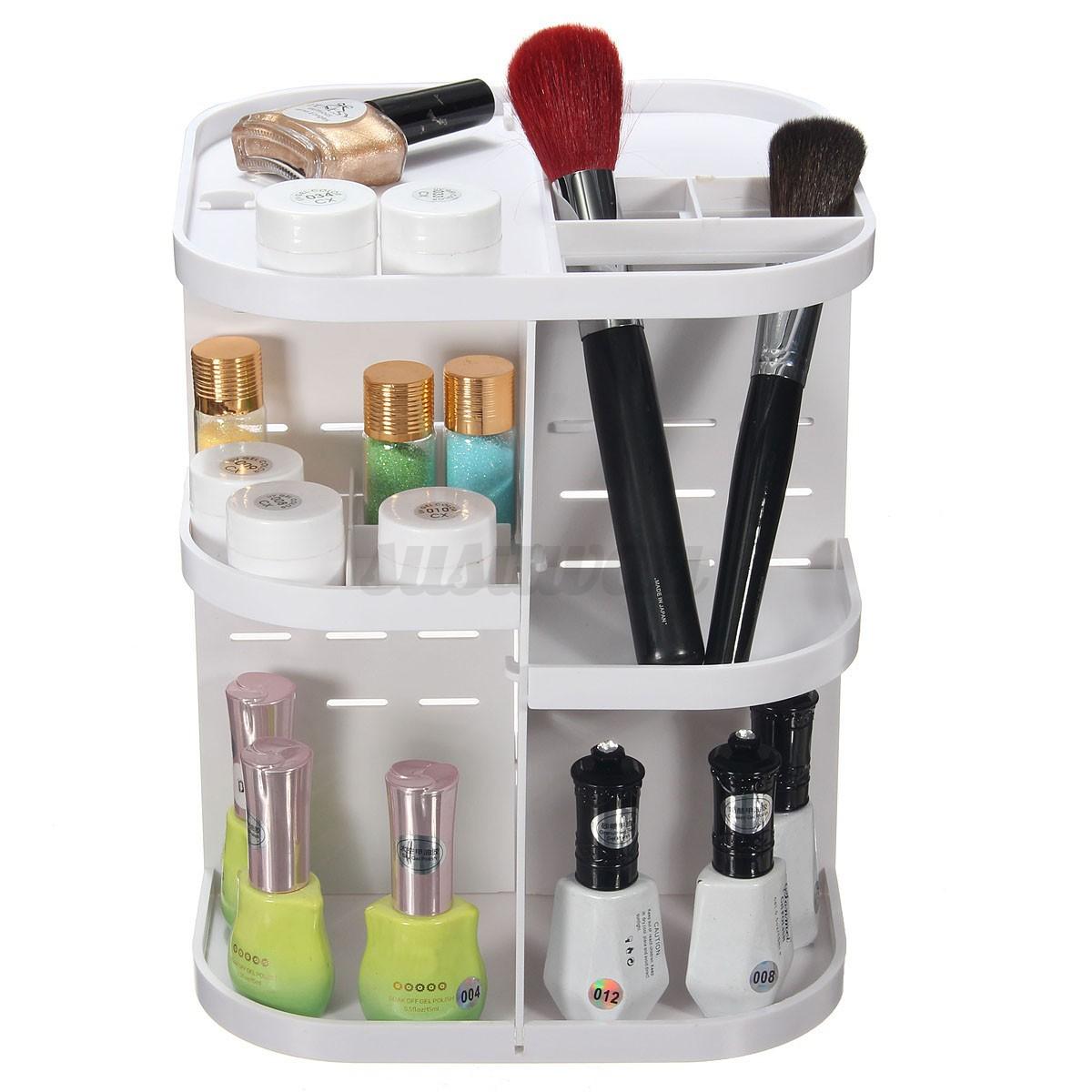 rotatif bo te maquillage organisateur rangement bijoux. Black Bedroom Furniture Sets. Home Design Ideas