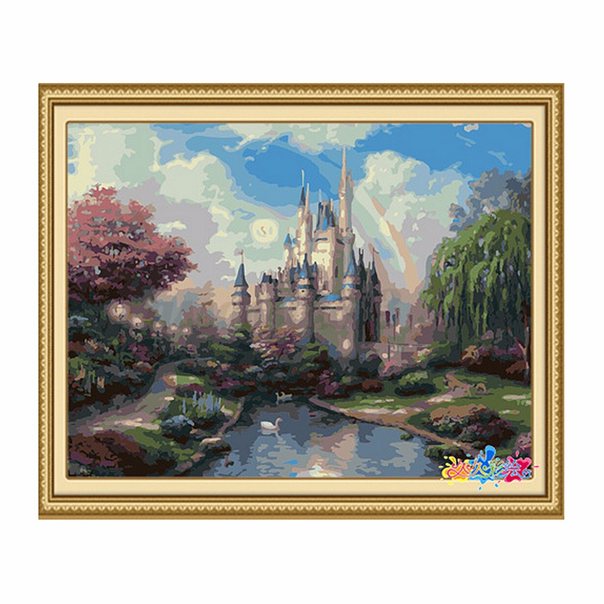Diy paint by number kit beautiful painting on canvas home wall decor 16 39 39 x20 39 39 ebay - A beautiful painting on wall ...