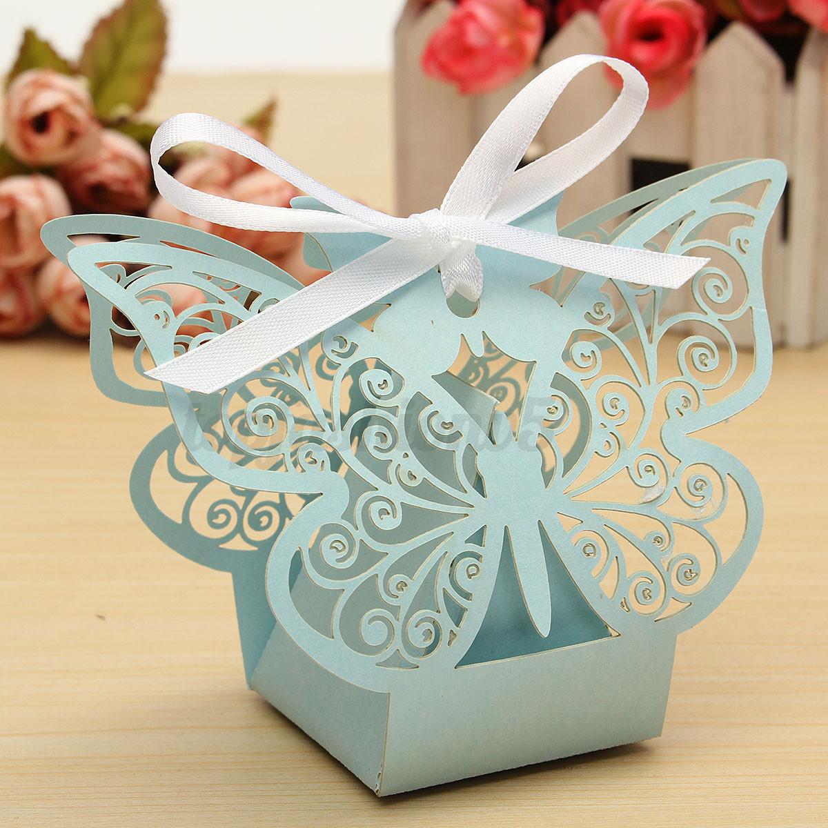 10 100pz bomboniera scatole caramelle farfalla matrimonio - Scatole porta viti ...