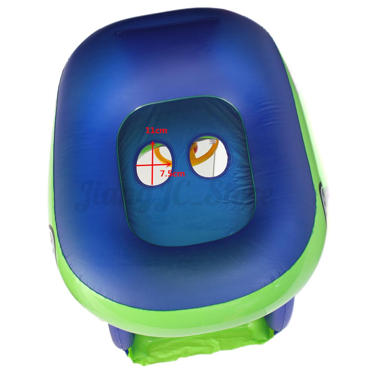 Blue Green Sunshade Baby Float Seat Car Boat Inflatable Swim Ring Pool Water Fun Ebay