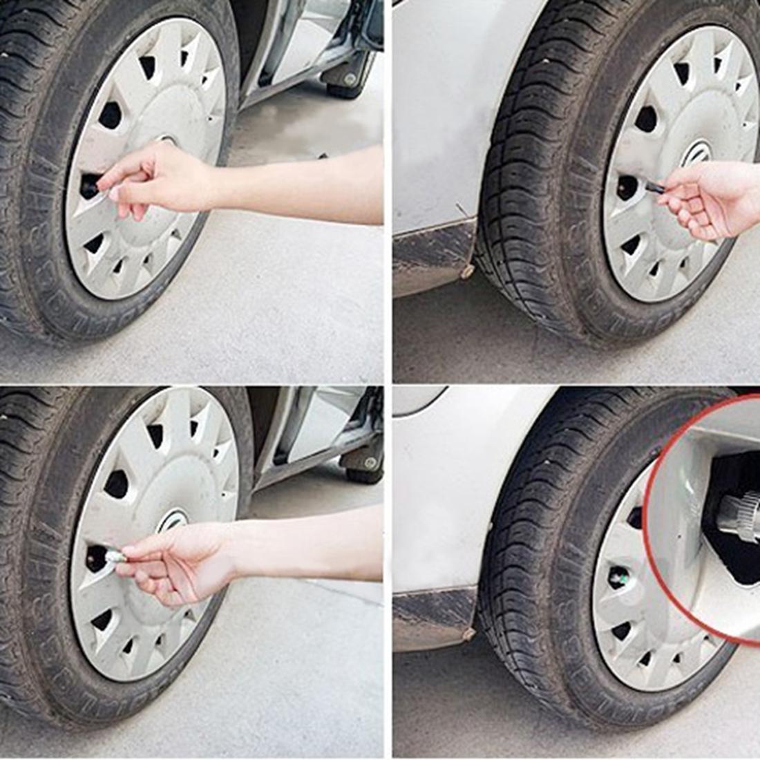 4 Auto Car Tire Type Air Pressure Alert Indicator Valve
