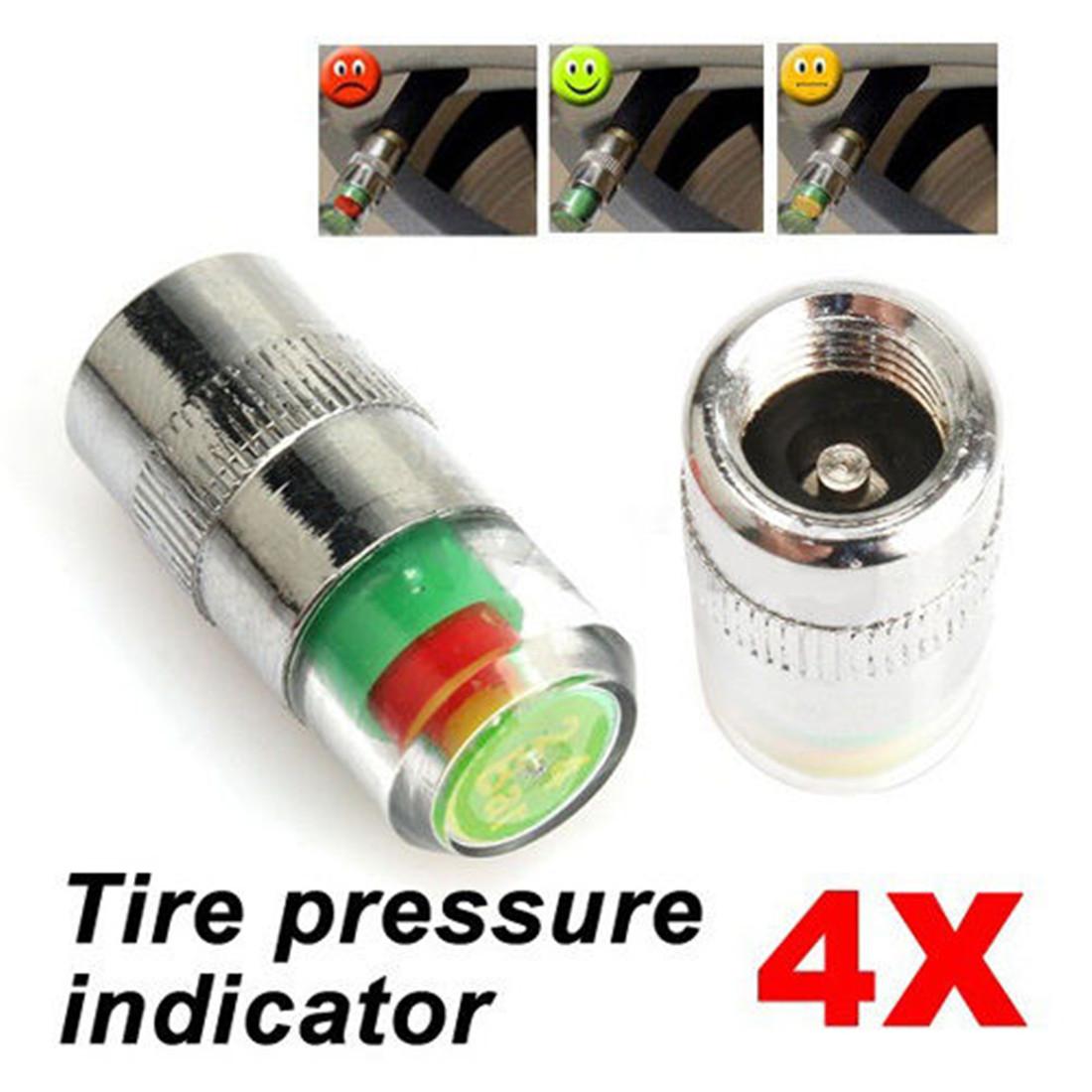 4 auto car tire type air pressure alert indicator valve stem monitor sensor cap ebay. Black Bedroom Furniture Sets. Home Design Ideas