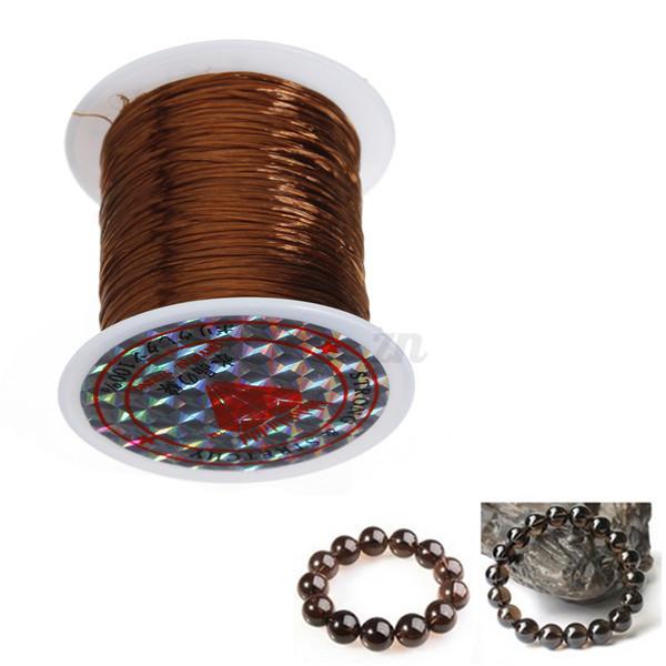 10m 1 2pcs bobine de fil elastique cordon bijoux cristal. Black Bedroom Furniture Sets. Home Design Ideas