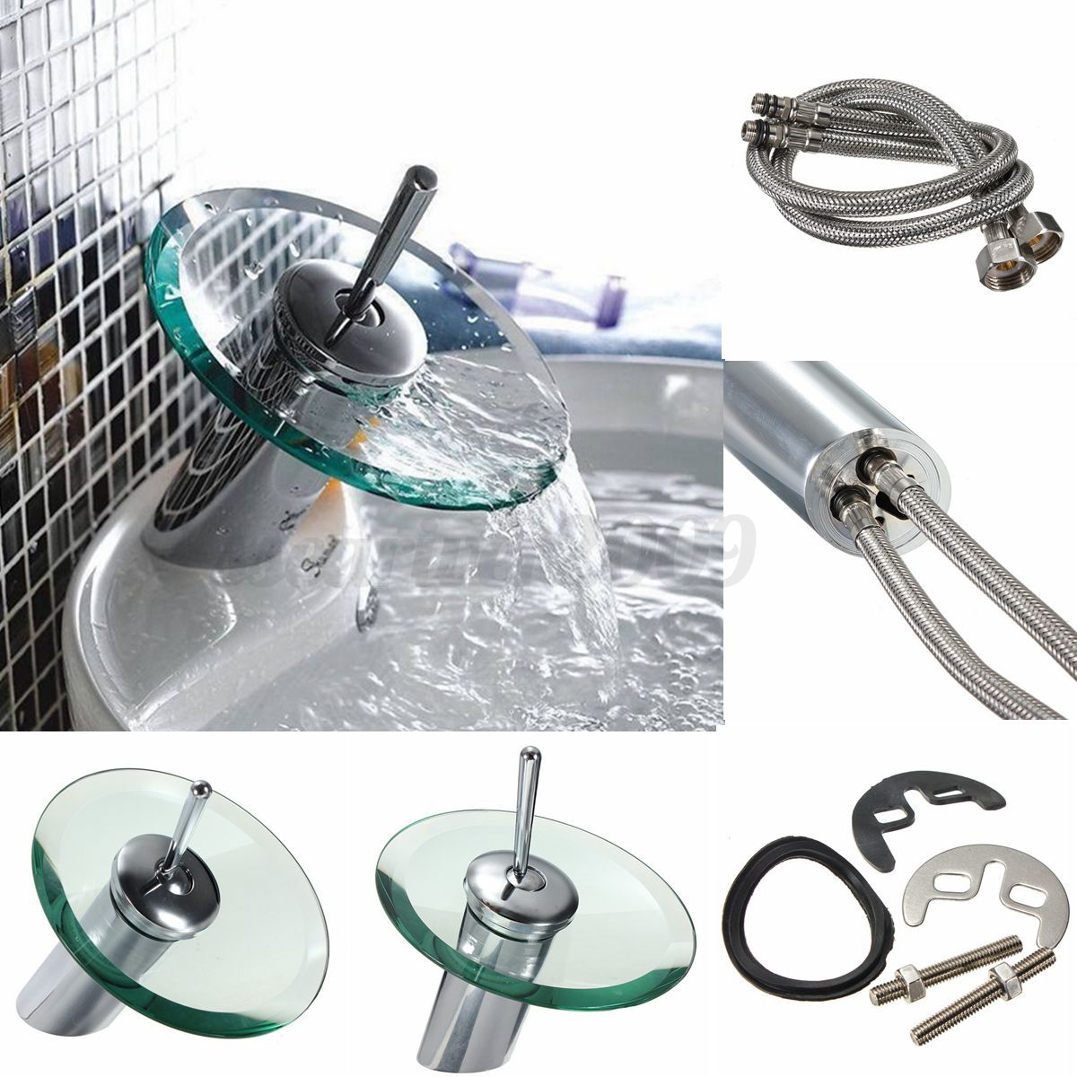 Bathroom Kitchen Sink Lever Mixer Tap Pull Out Swivel Spray Spout Faucet Ebay