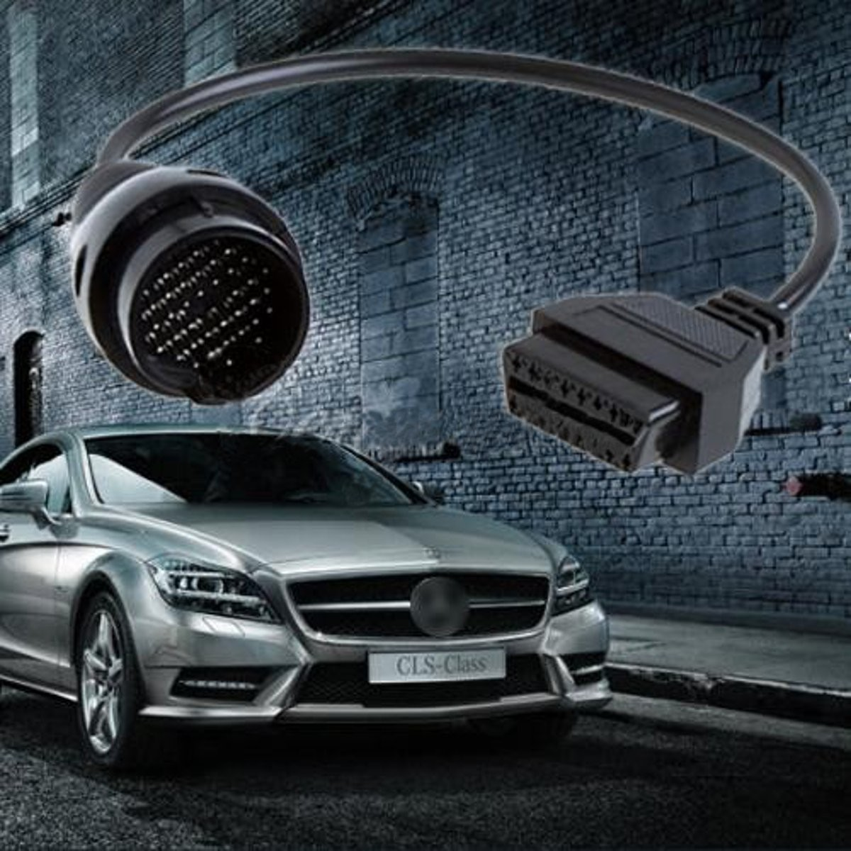 38 pin to 16 pin obd2 obdii diagnostic cable adapter for Promo code for mercedes benz accessories