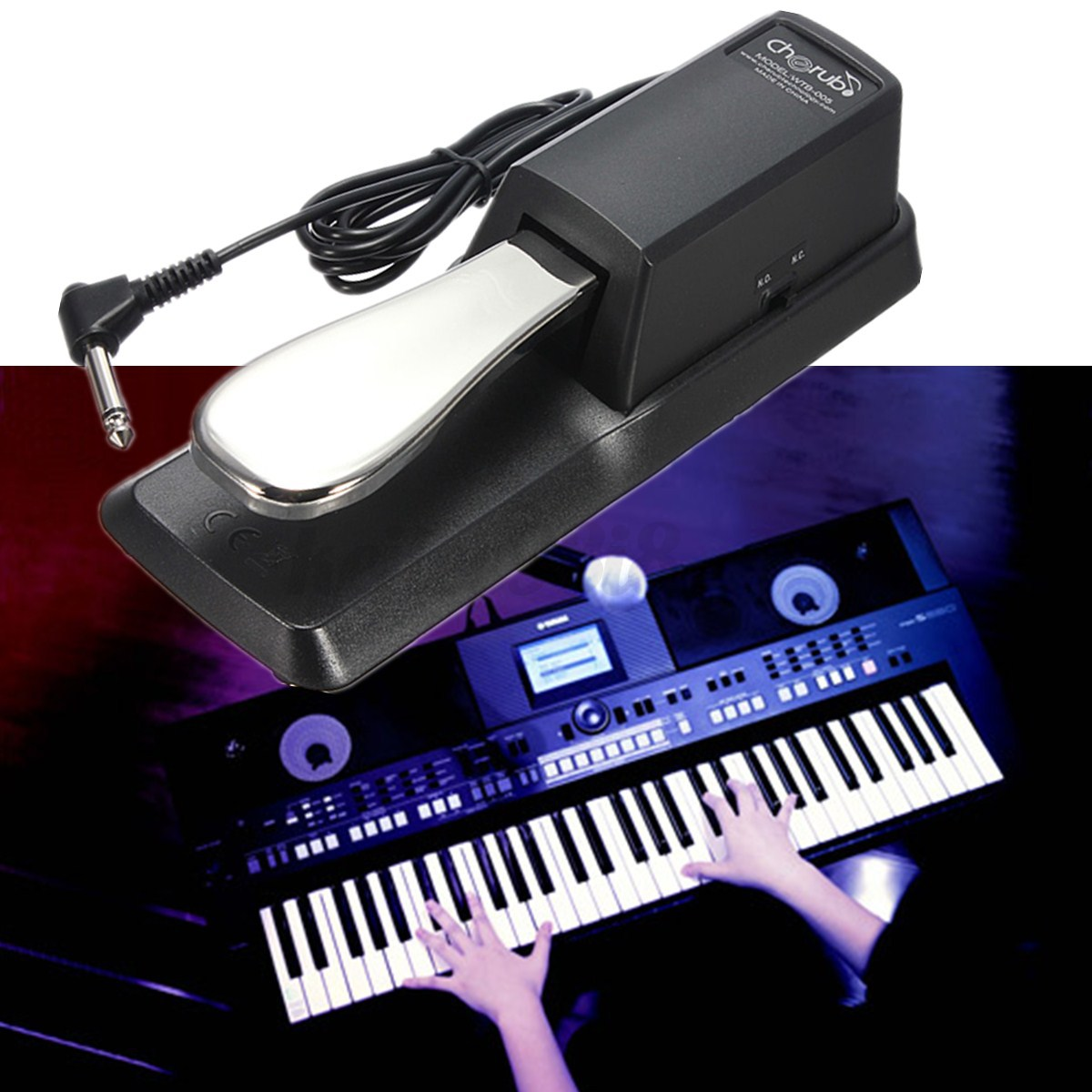 Piano damper sustain pedal for yamaha hmy casio more for Yamaha keyboard sustain pedal