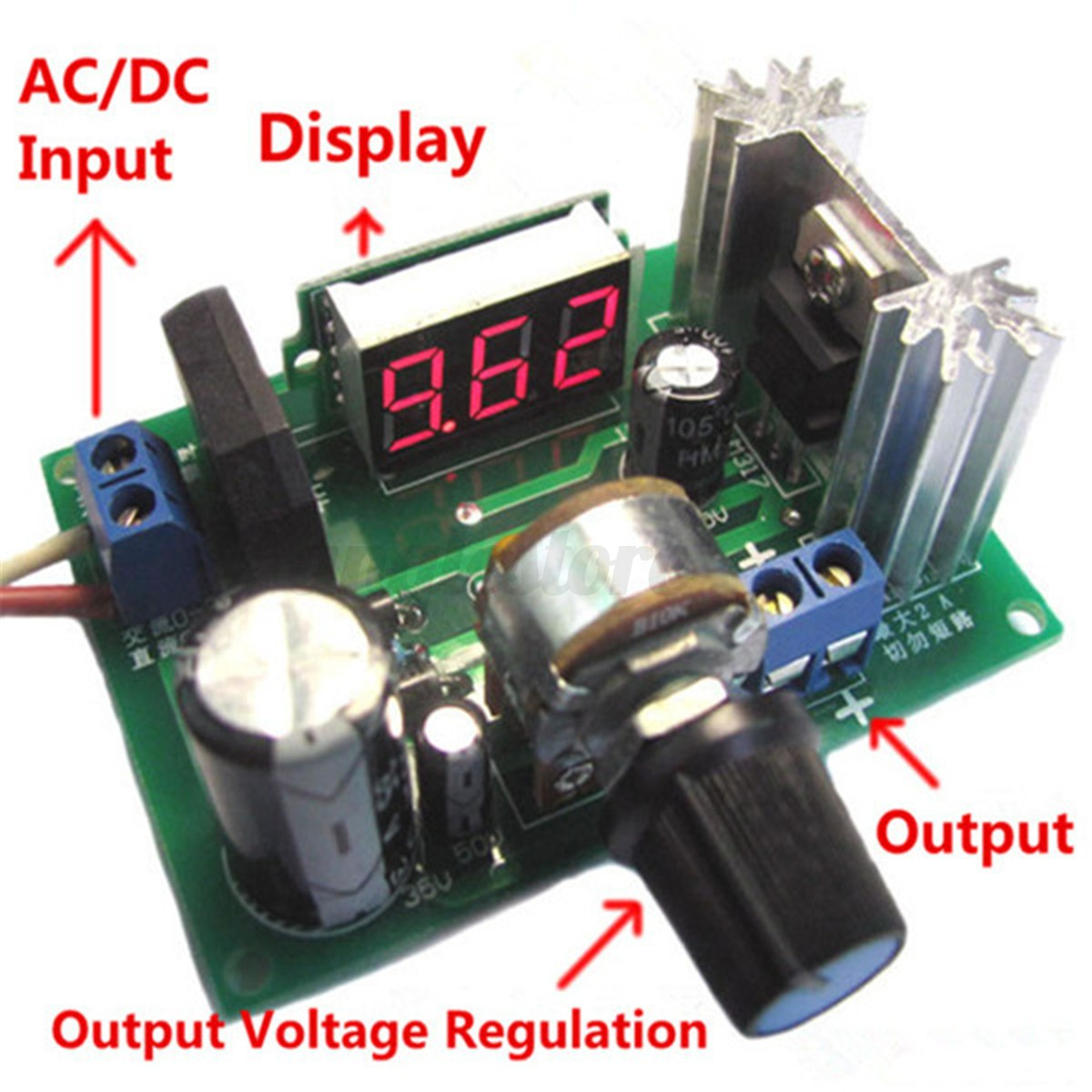 New Lm317 Ac Dc Adjustable Voltage Regulator Step Down Power Supply Variable 3 Of 6 Module Led