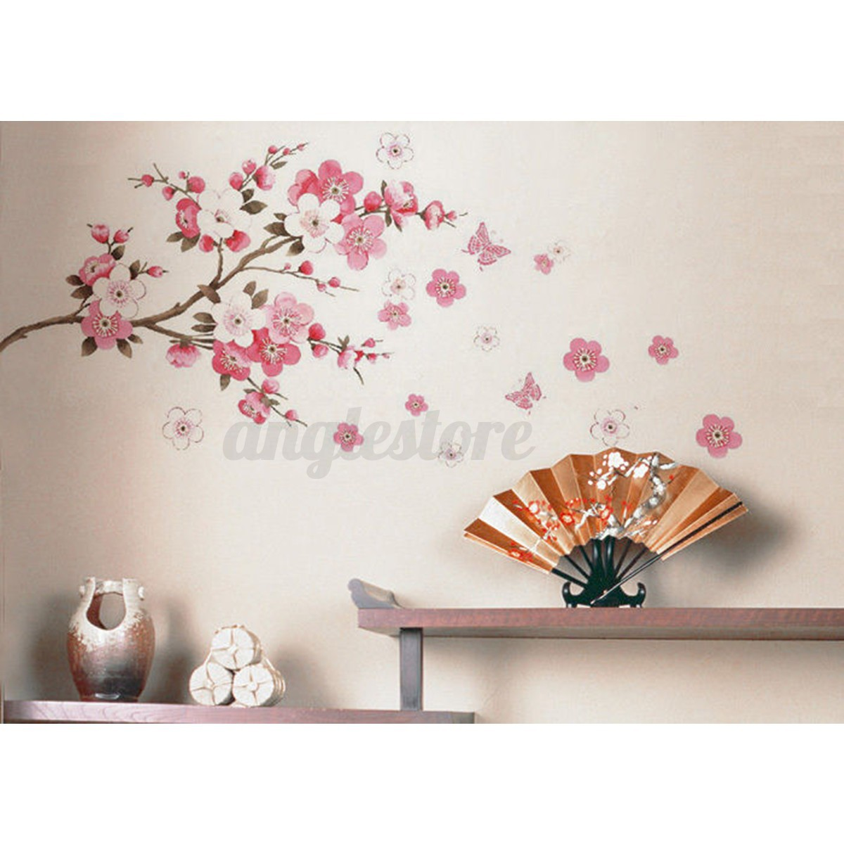 Large Sakura Flower Removable Wall Sticker Paper Mural Art Decal - Wall decals in pakistanblack flowers removable wall stickers wall decals mural home art