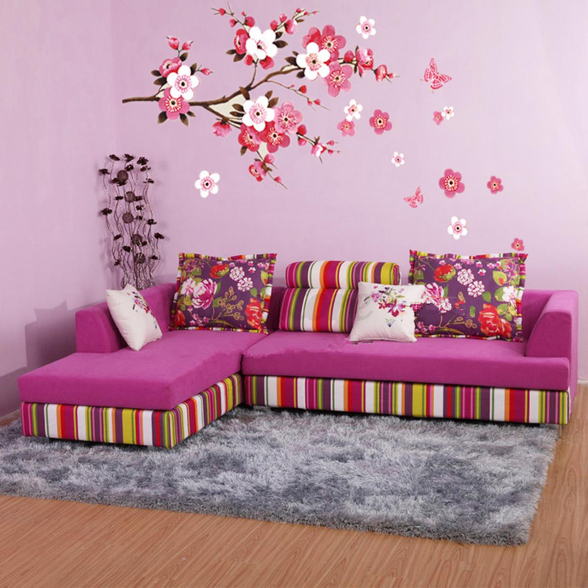Large Sakura Flower Removable Wall Sticker Paper Mural  Part 42