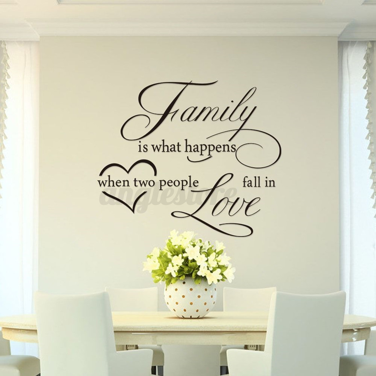diy family love heart wall sticker removeable home room art mural decal decor ebay. Black Bedroom Furniture Sets. Home Design Ideas