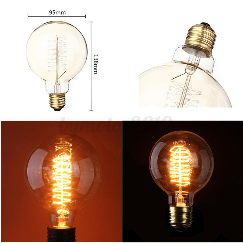 ampoule filament carbone e27 b22 e14 vintage edison style bulb titulaire douille ebay. Black Bedroom Furniture Sets. Home Design Ideas