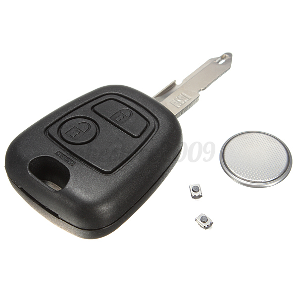 2 button remote key case shell switch battery blade repair kit for peugeot 206 ebay. Black Bedroom Furniture Sets. Home Design Ideas
