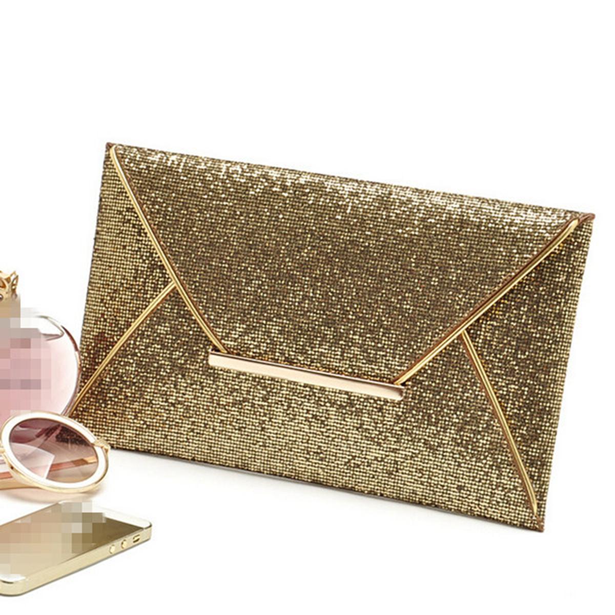 Us Women Sequins Evening Party Glitter Envelope Bag
