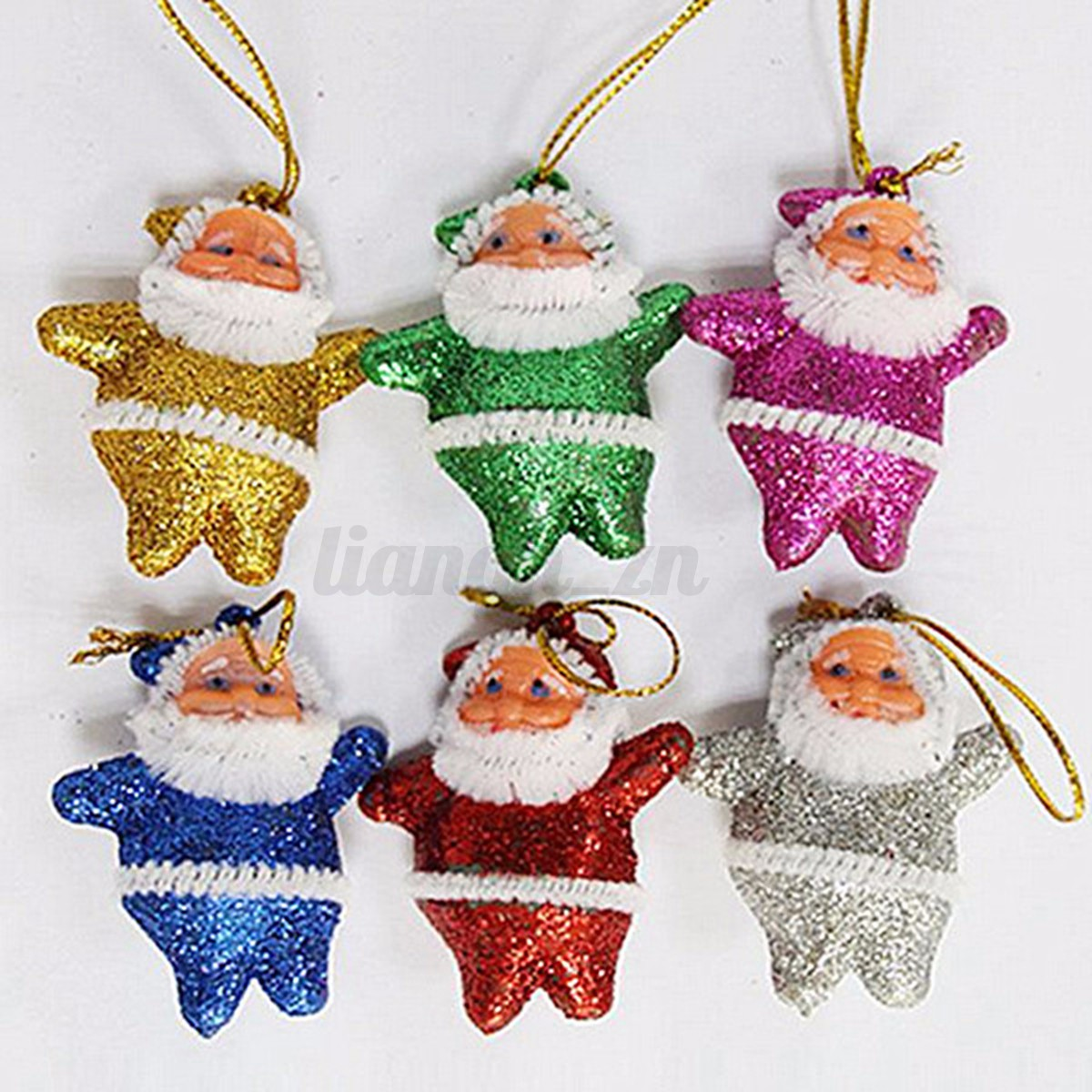 6-12pcs-Canne-Noel-Fleur-Suspendu-Boule-Neige-Pendente-Ornement-Decor-Sapin-Fete
