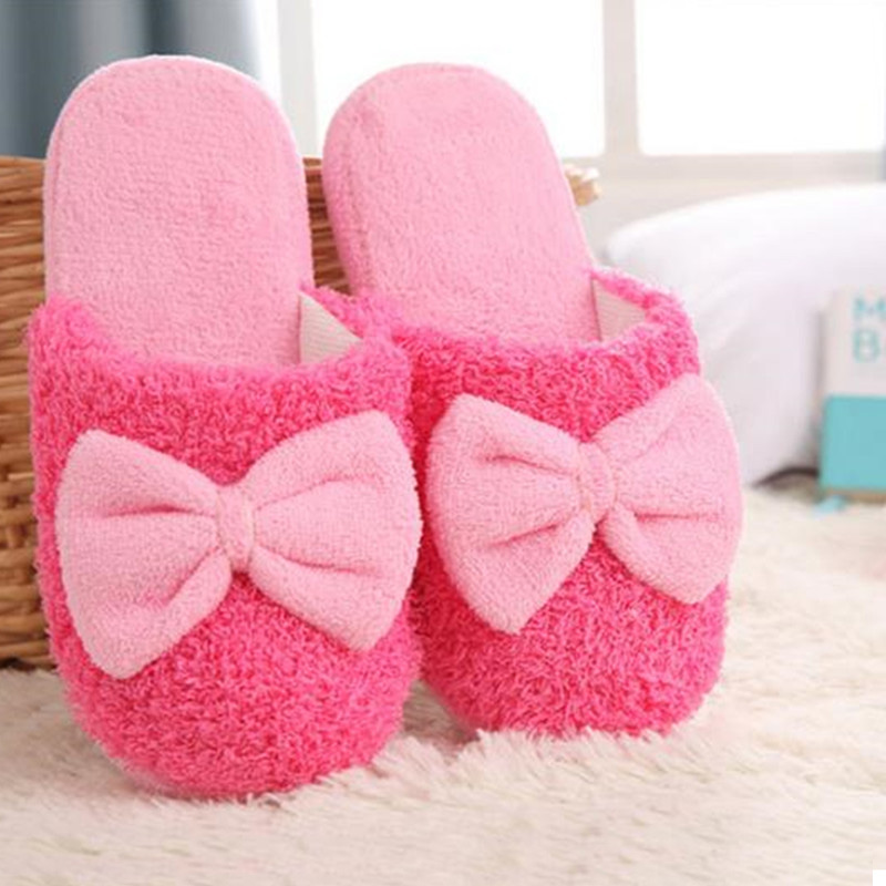 e3a51c008 Women Winter Indoor Home Slippers Bath House Fur Fluffy Mules Warm Cotton  Shoes | eBay