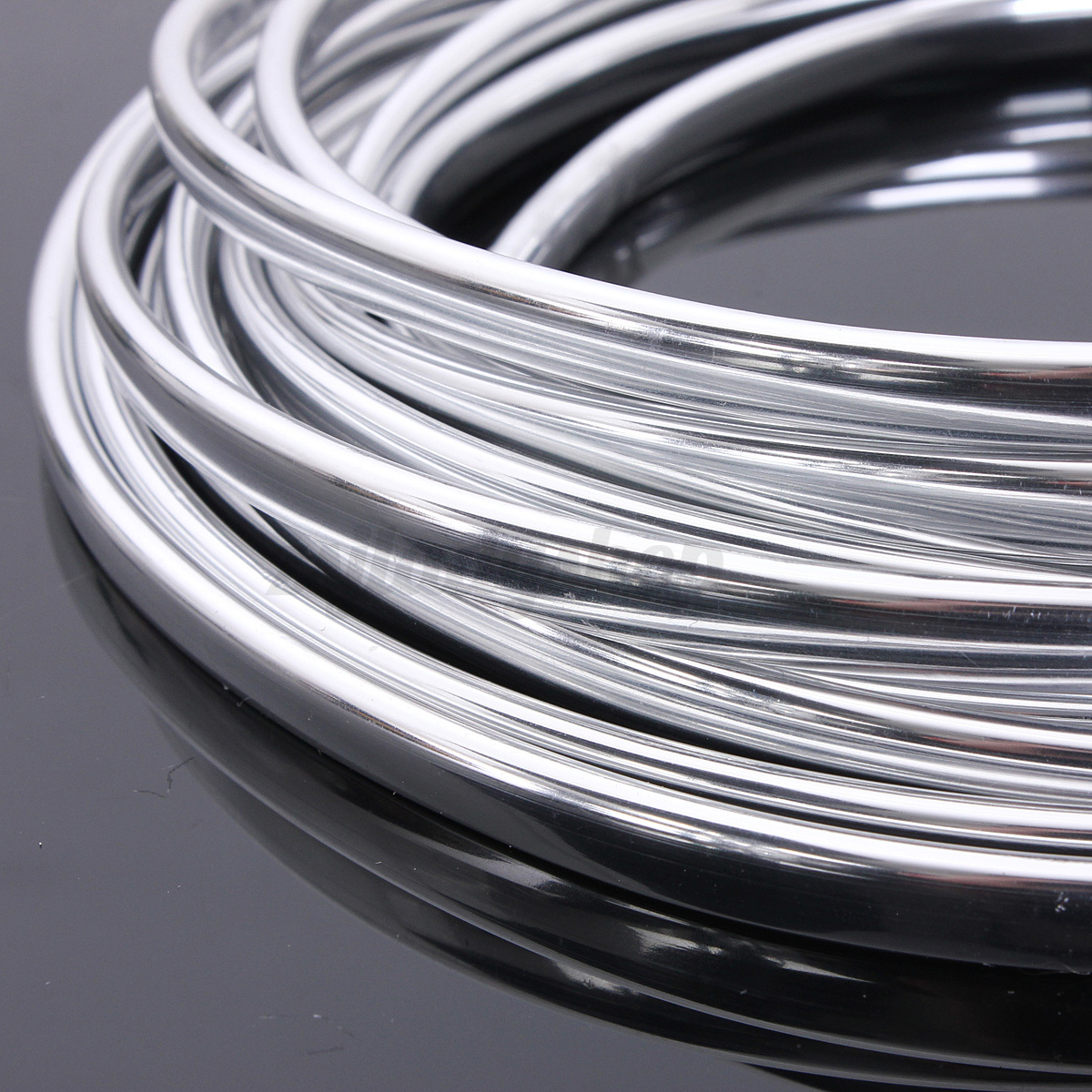 20ft roll chrome moulding trim strip car door edge scratch for Door edge trim