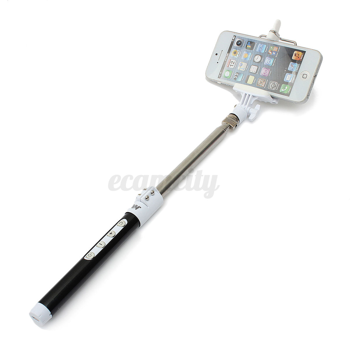 bluetooth remote monopod tripod selfie stick rechargeable for samsung iphone lg ebay. Black Bedroom Furniture Sets. Home Design Ideas