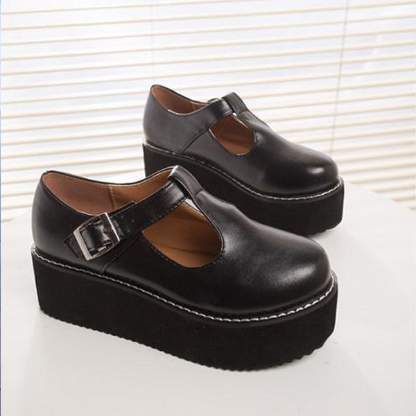 Womens Wedge Oxford Shoes