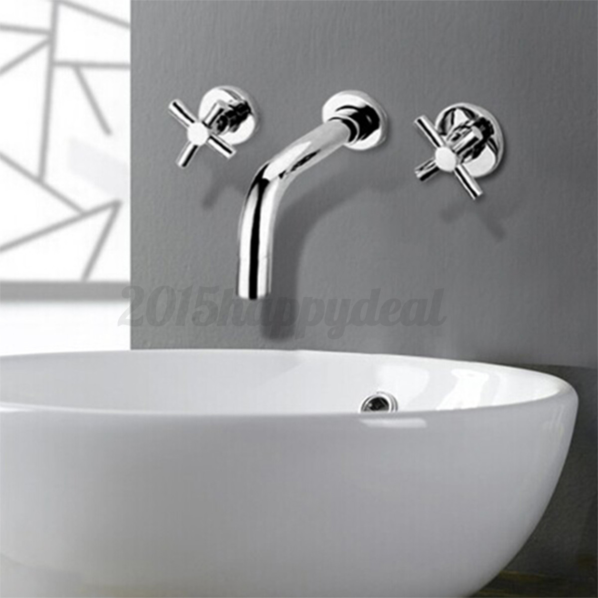 kitchen sink and faucets modern chrome bathroom 3 holes wall mounted basin sink 5626