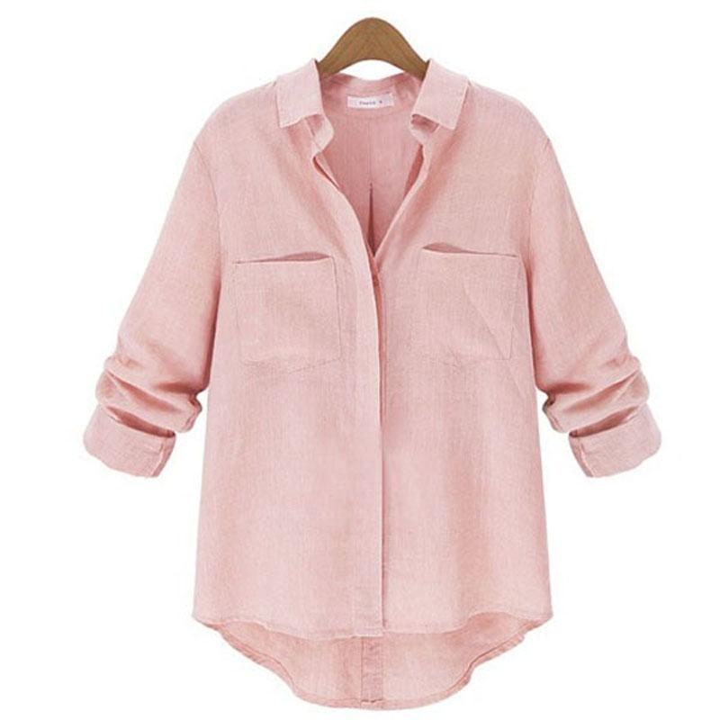 fbb8cab1780 ZANZEA 8-24 Women Long Sleeve Button Down Shirt Top Tee Baggy Plus ...