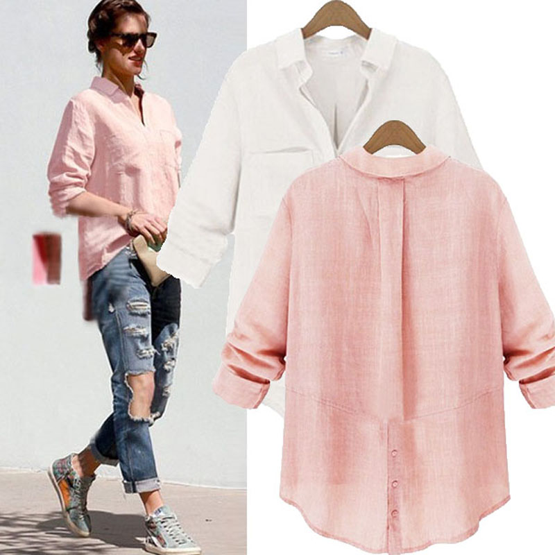 Womens Long Sleeve Buttons Down Shirt Casual V Neck Blouse Tops