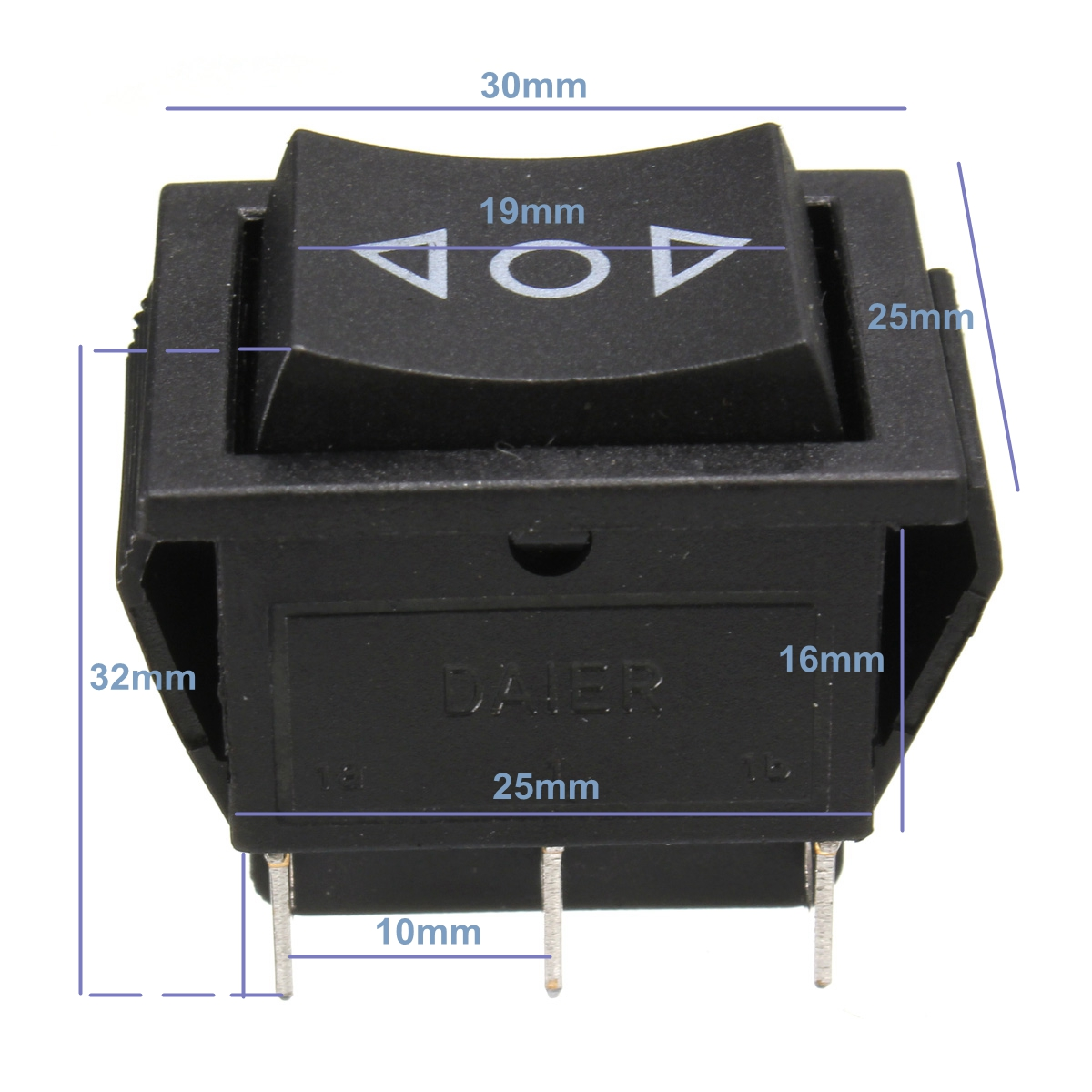 Dpdt 6 Pin Power Window Momentary Rocker Switch Ac 250v 10a 125v 15 House Fan Wiring Diagram Detail Image