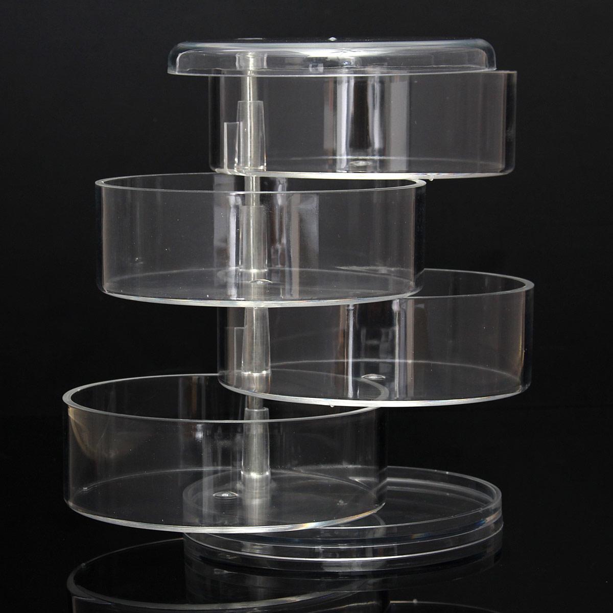 Contenitore-Espositore-Organizer-Porta-Make-Up-Trucco-Gioielli-Storage-Stand-UK miniatura 17