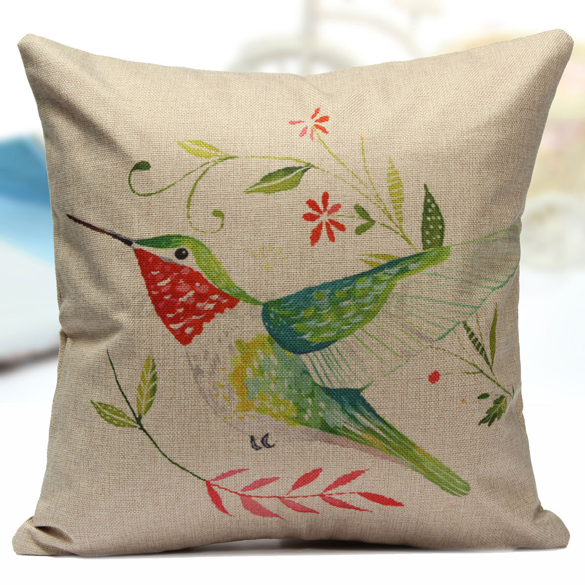 Square Throw Pillow Cases : Vintage Square Cotton Linen Throw Pillow Cases Cushion Cover Home Car Decor UK eBay