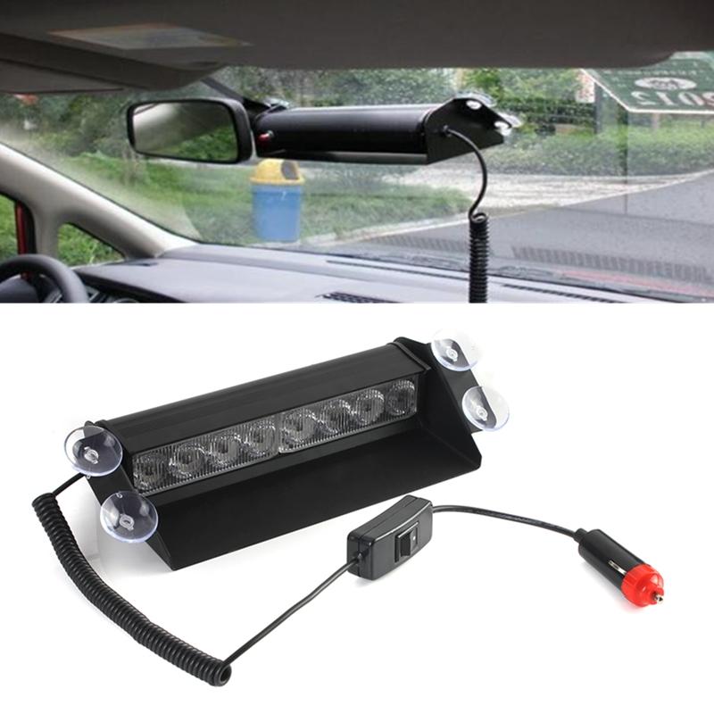 Untitled Source · BLUE 8 LED STROBE EMERGENCY FLASH WARNING LIGHT FOR CAR TRUCK 12V HB 803B INTL Detail