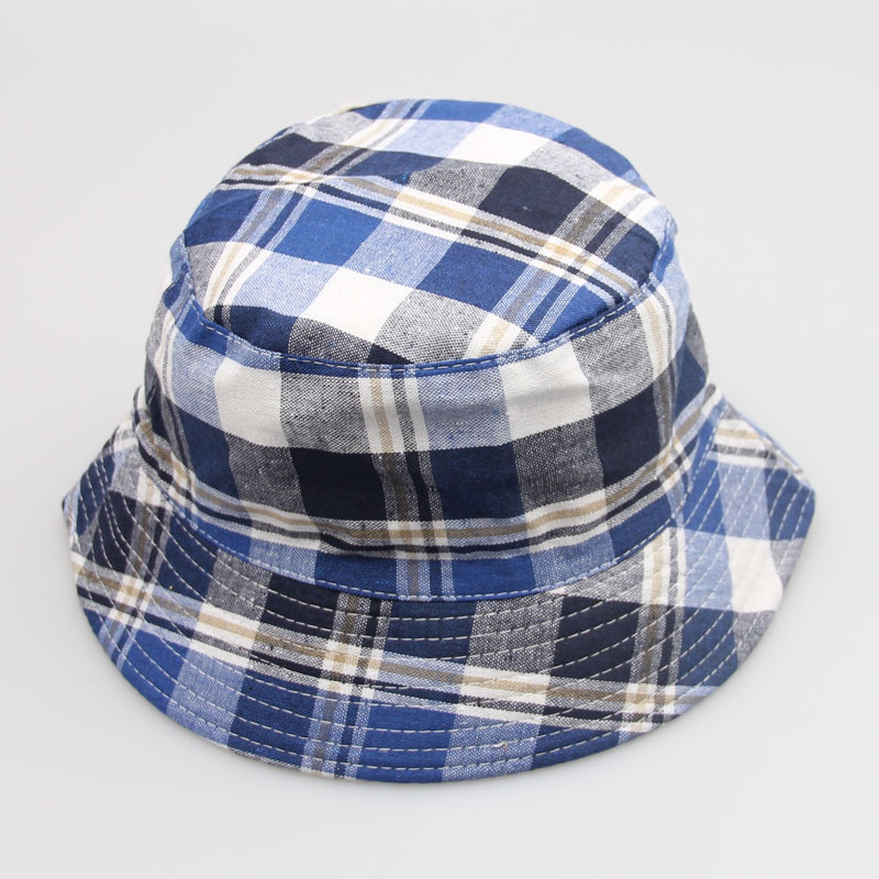 Summer Unisex Men Women Grid Bucket Boonie Plaid Hunting Fishing Outdoor Cap  Hat  522a47b5d74