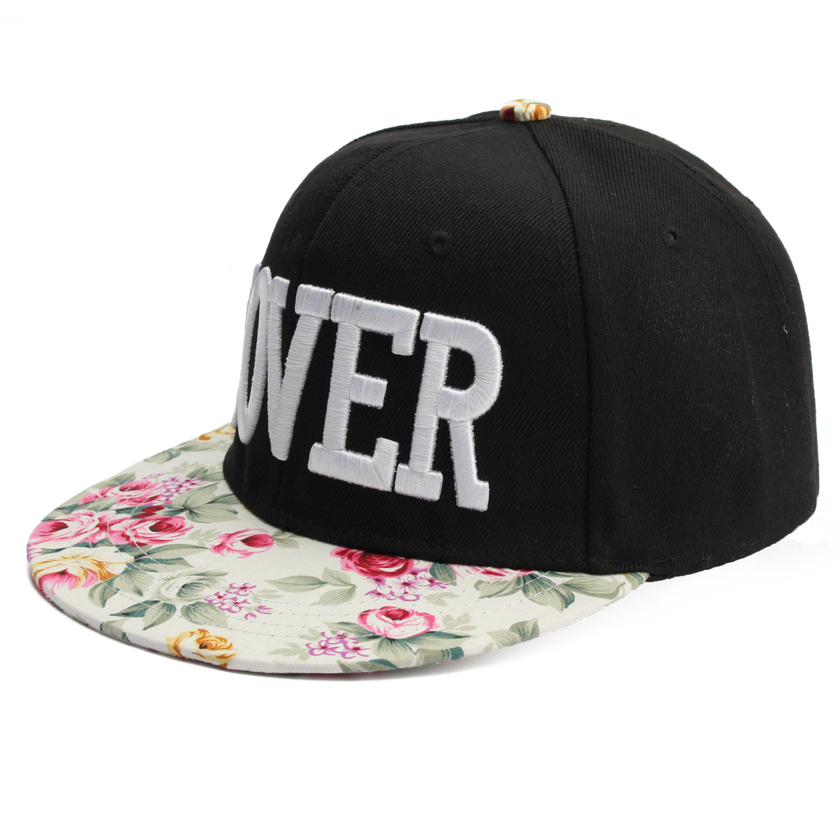 d505b8b066f ... new zealand new men women snapback baseball cap hip hop hat floral  letter adjustable canvas ebay