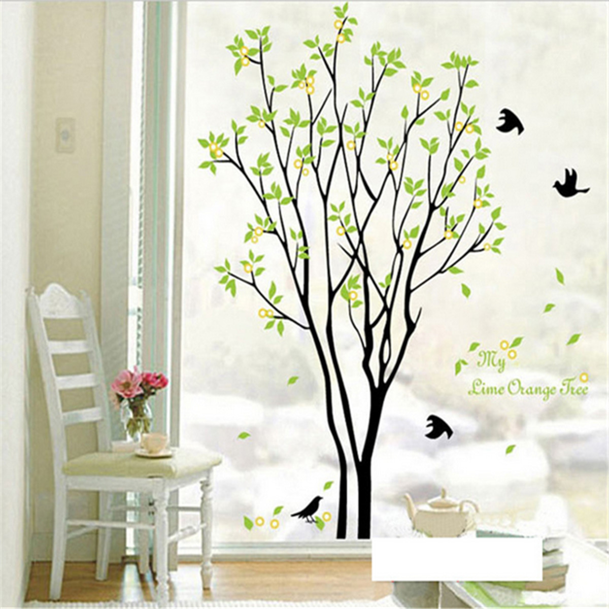 Tree Bird Quote Removable Vinyl Wall Decal Mural Home Art Diy Decor