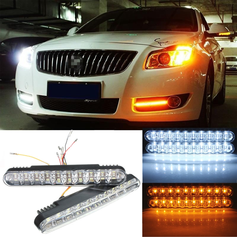 2x 30 led 5050 smd voiture feux de jour diurne drl daylight clignotant lampe 12w ebay. Black Bedroom Furniture Sets. Home Design Ideas