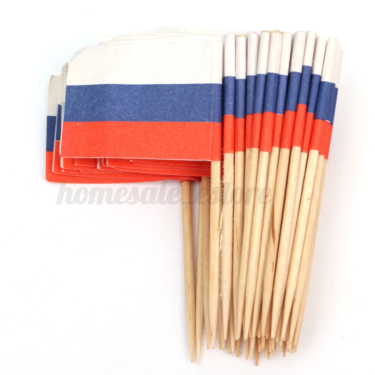 50pcs Mini Flag Cocktail Cupcake Food Fruit Picks Sticks ...